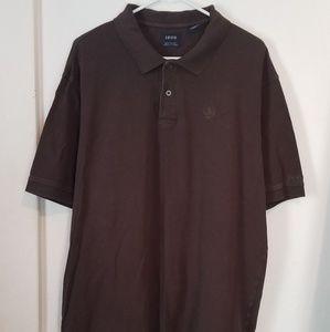 IZOD Mens Size XXL Brown Short Sleeve Shirt